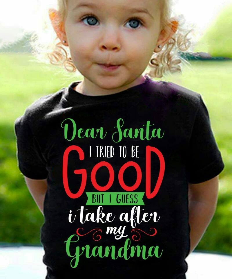 Dear Santa I Tried To Be Good But I Guess I Take After My Grandma Funny Christmas Family Unisex Sweatshirt Hoodie T-shirt, Merry Christmas Idea, December Holiday, Celebration Party, Themed Costume tee