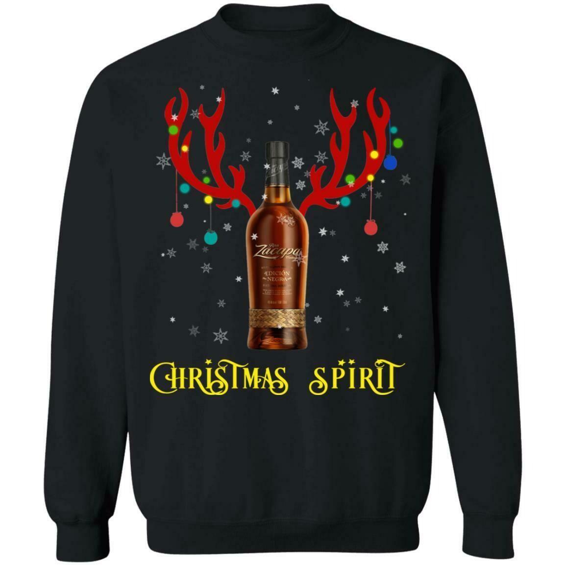 Christmas Sweater Zacapa Christmas Spirit Reindeer Rum Shirt  Christmas Couples Shirts, Rudolph Shirt, Couples Winter T-Shirts, Christmas Couple, Matching Shirts, Raindeer Shirt