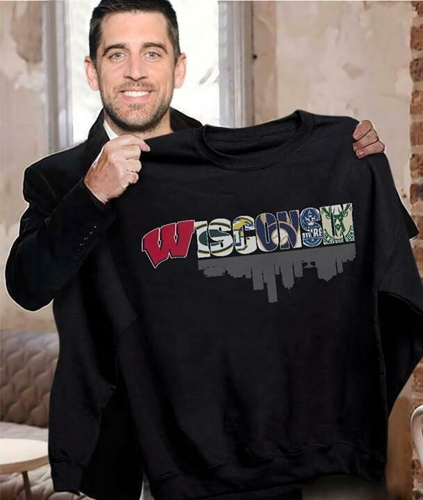 Wisconsin sport teams Wisconsin badger green bay packers wisconsin herd milwaukee brewers shirt, This Guy Loves Wisconsin T Shirt Wisconsin Home State Shirt Sports Fan Gift Ideas For Him Team TShirt