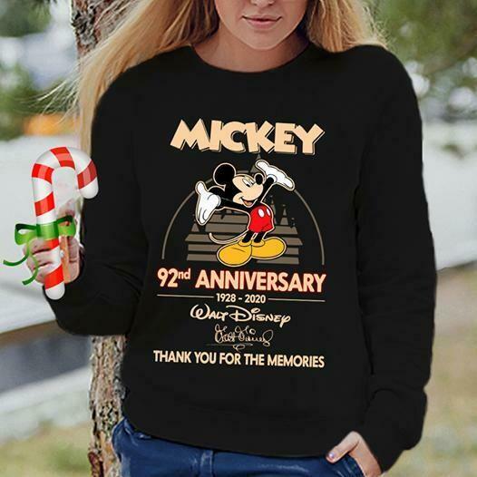 mickey 92nd anniversary 1928 2020 walt disney thank you for memories unisex shirt, Walt Disney Shirt for Women, Disney Shirts, Disney Family Shirt, Walt Disney T-shirt, Women's Disney Shirt