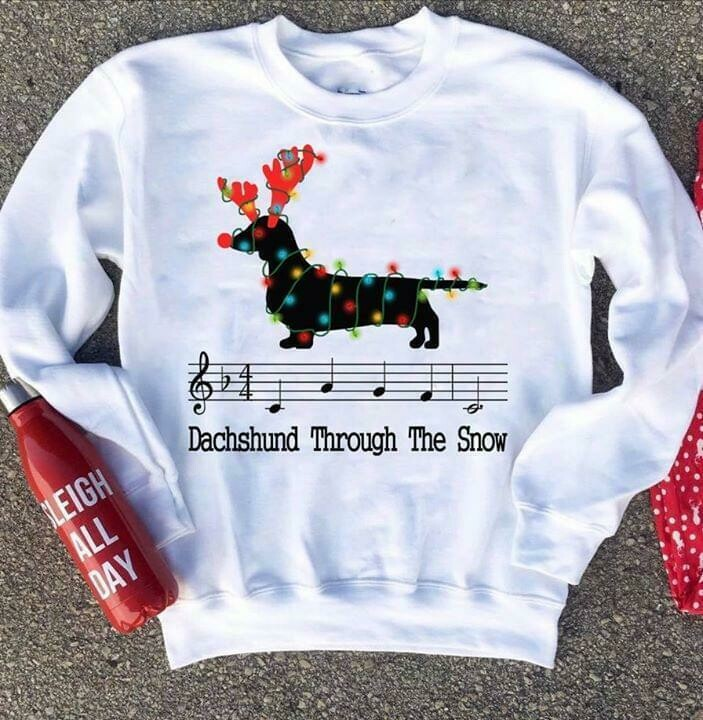 dachshund through the snow christmas for dog lover shirt, Dachshund Through the Snow Shirt, Dog Christmas Shirt, Christmas T-shirt, Doxie Shirt, Dachshund Shirt, Christmas Dog Shirt, Holiday Shirt