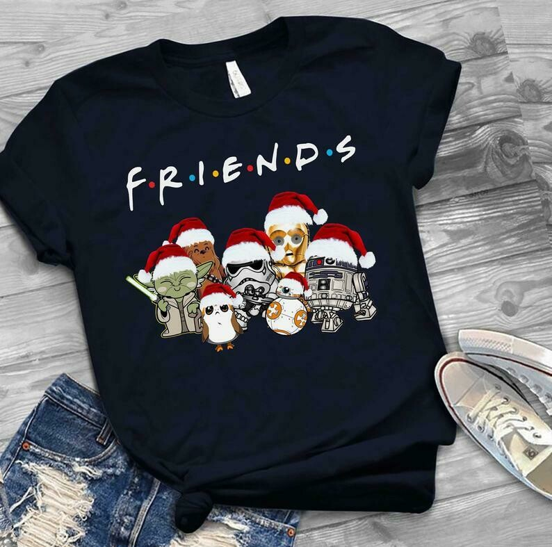 Friends Star war Christmas t-shirt, Friends shirt, Star war Shirt, Cotton T-shirt, T-Shirt Birthday Gift,Personalized T-Shirt, T-Shirt With sayings, Friends Tvshow, Friends Christmas, Friends Movies,
