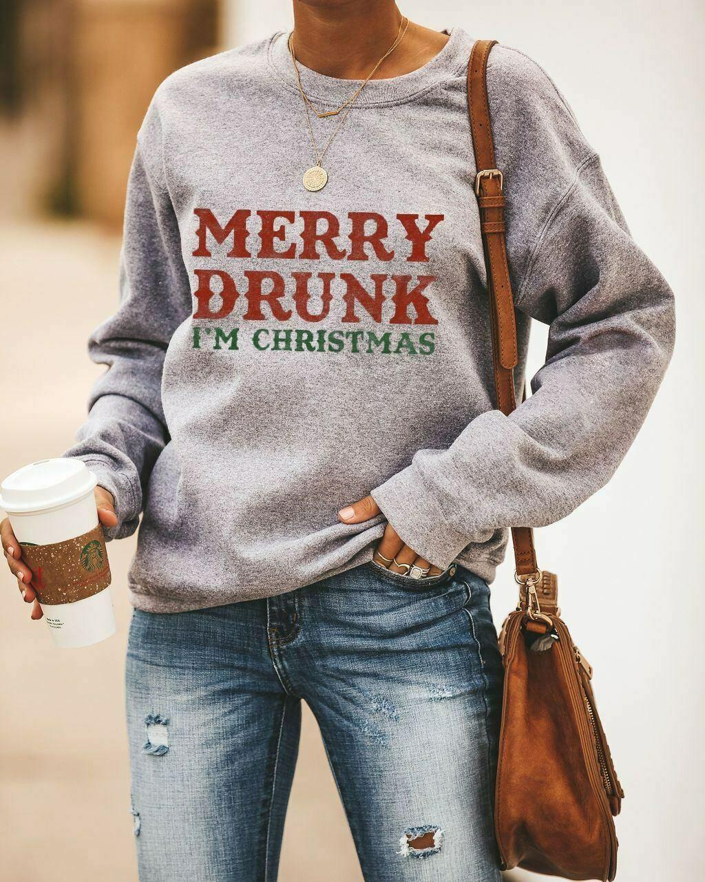 Merry Drunk I'm Christmas, funny Christmas party tees, Holiday Shirt, Christmas Day, Christmas Drinking shirt, Christmas drinking, Im Christmas, merry drunk, funny drinking shirt