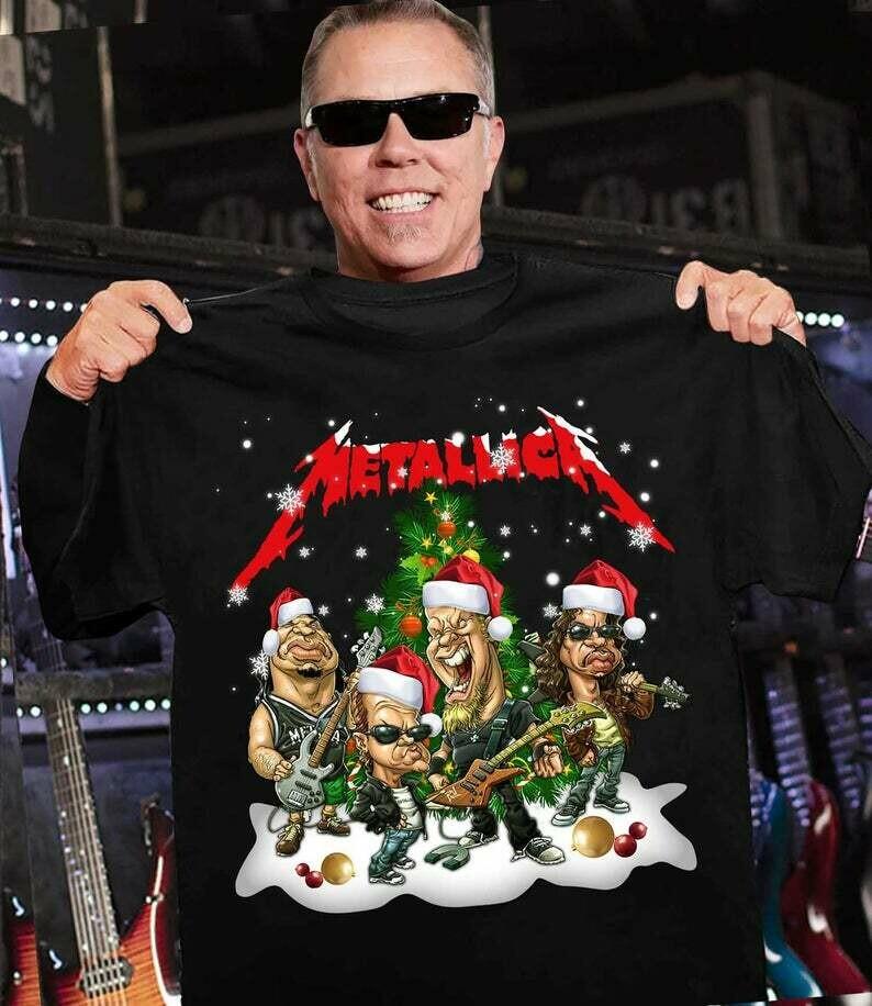 Metallica shirt, Metallica Christmas T-Shirt, Cotton T-shirt, T-Shirt Birthday Gift,Personalized T-Shirt, T-Shirt With Sayings, Metallica shirt, Metallica Christmas, Christmas shirt