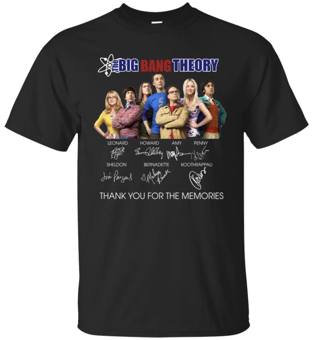 BIG BANG THEORY THANK YOU FOR THE MEMORIES SIGNATURE shirt