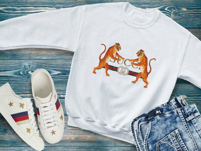 Gucci Tiger inspired Unisex T Shirt, gucci shirt, vintage gucci, gucci tiger, gucci belt, chanel shirt, givency shirt, moschino shirt, gucci logo shirt, ysl shirt, luis vuitton shirt, saint laurent