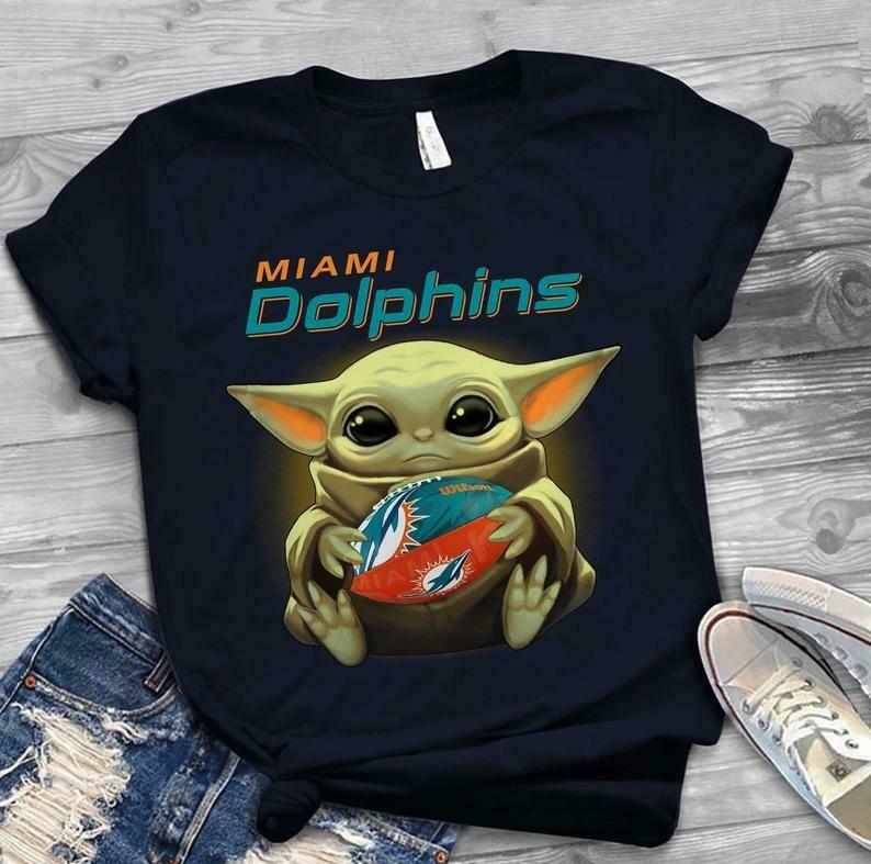 Miami Dolphins shirt Baby Yoda shirt, Star Wars t-shirt, Baby Yoda Star wars Shirt Cotton T-Shirt With Sayings, Disney Lilo Stitch, baby Yoda Star War, Yoda Stitch Friends, Star Wars Fanatics