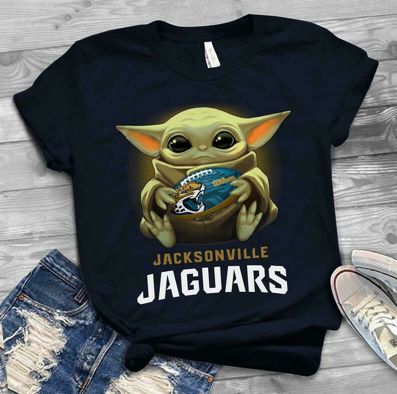 Jacksonville Jaguars shirt Baby Yoda shirt, Star Wars t-shirt, Baby Yoda Star wars Shirt Cotton T-Shirt With Sayings, Disney Lilo Stitch, baby Yoda Star War, Yoda Stitch Friends, Star Wars Fanatics