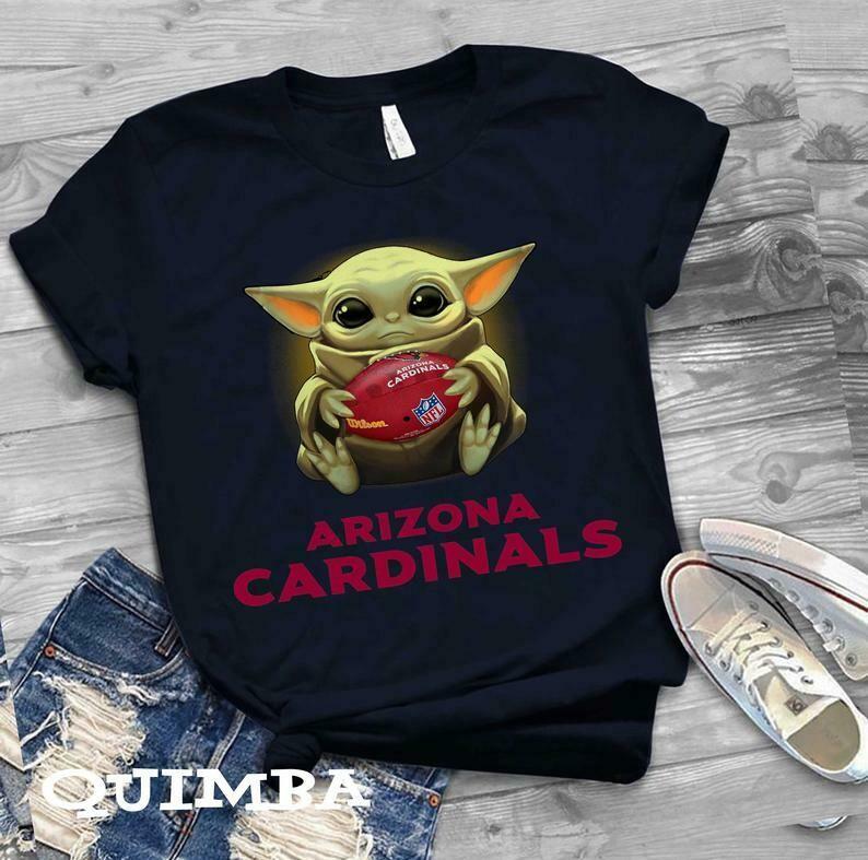 Arizona Cardinals shirt Baby Yoda shirt, Star Wars t-shirt, Baby Yoda Star wars Shirt Cotton T-Shirt With Sayings, Disney Lilo Stitch, baby Yoda Star War, Yoda Stitch Friends, Star Wars Fanatics
