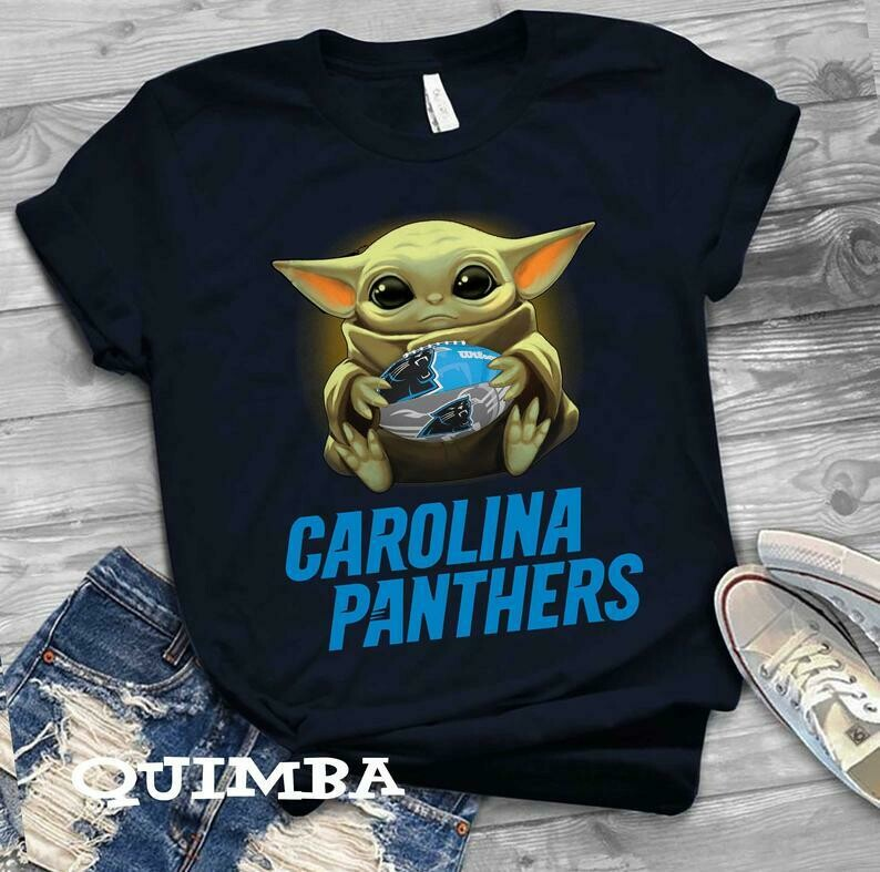 Carolina Panther shirt Baby Yoda shirt, Star Wars t-shirt, Baby Yoda Star wars Shirt Cotton T-Shirt With Sayings, Disney Lilo Stitch, baby Yoda Star War, Yoda Stitch Friends, Star Wars Fanatics