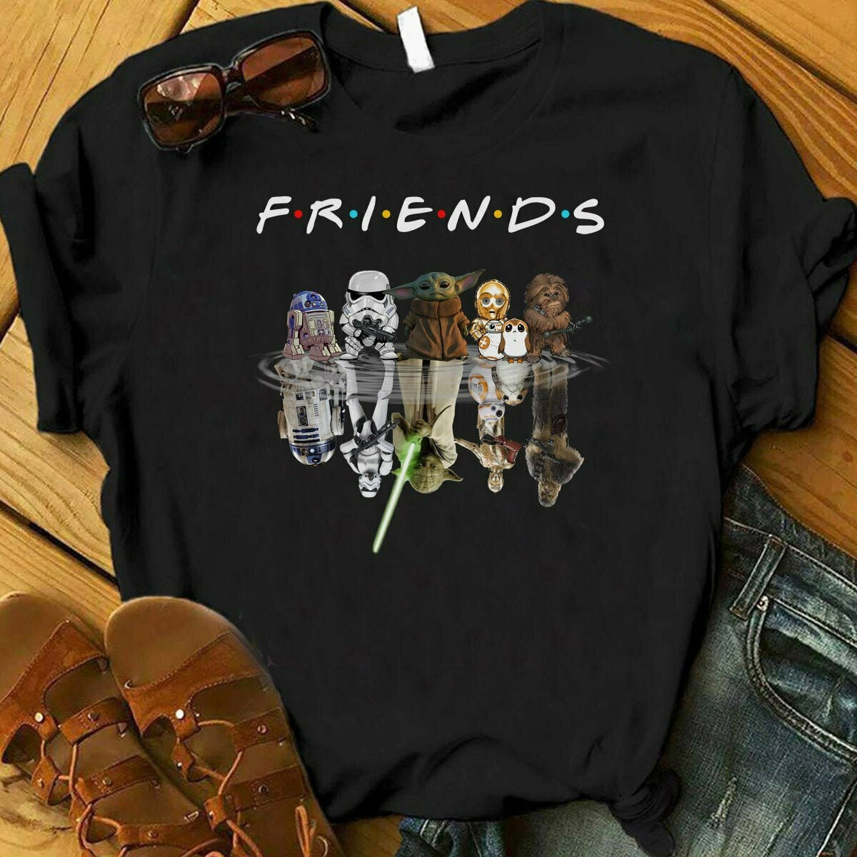 Star Wars And Friend Shirt, Cute Star Wars Sweatshirt, Baby Yoda Hoodie, Storm Trooper, Darth Vader, Baby Yoda, Star Wars, Friend TV show, Disney shirt, epcot group shirt, cute family shirt