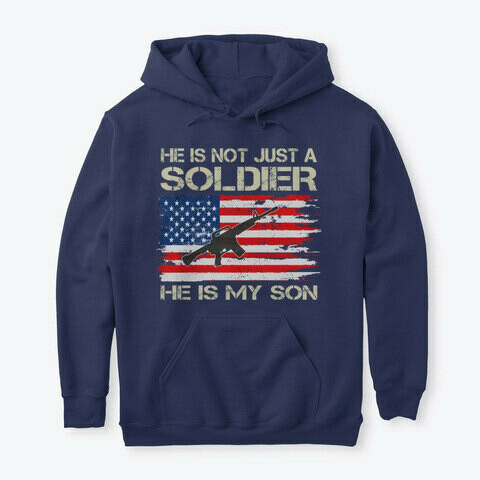 He Is Not Just A Soldier He Is My Son Proud Military Veteran Dad Gift Short-Sleeve Unisex T-Shirt