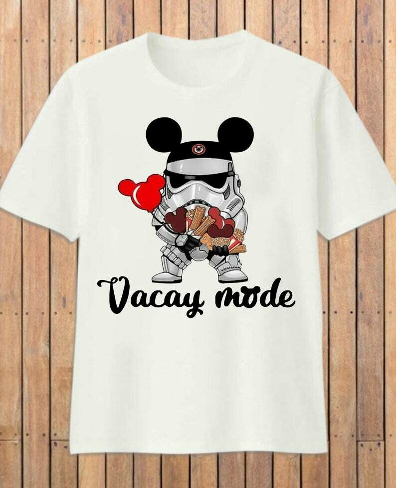 Star Wars Stormtrooper Micky Vacay Mode Mouse Disney,Stormtrooper Inspired Digital Mouse Ears T-Shirt, Vacay Mode, Star Wars, Stormtrooper, Mickey Disney, Inspired Scoop Shirt, Baby Yoda Disney
