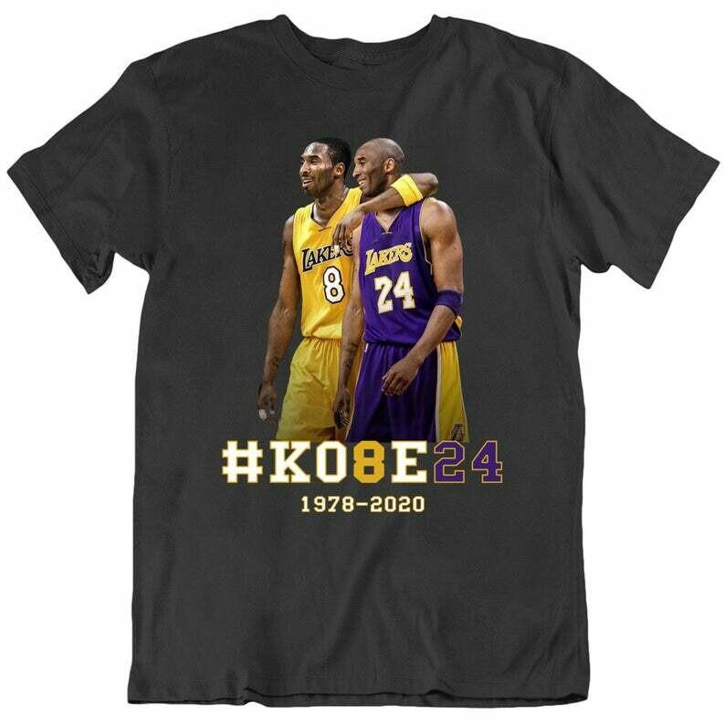 Kobe Bryant Basketball Tribute Los Angeles Number 24 8 T Shirt,  Kobe Bryant Baseketball 1978 - 2020 NBA Fan Gift T-Shirt, LAL Basketball , Los angeles Lakers, Funny Basketball Shirt