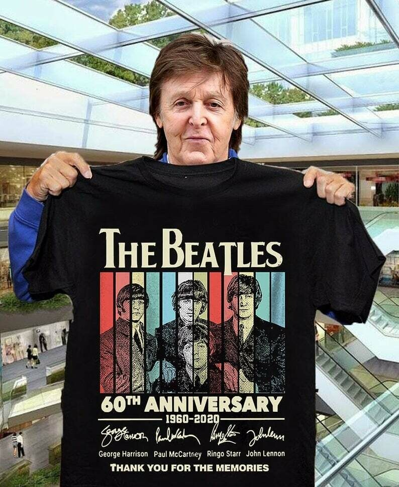 The beatles 60th anniversary 1960 - 2020 thank you for the memories signal,Classic Rock Band Legend Fan T-Shirt, The Beatles t-shirt, Rock Band Legend, The beatles Fan gift, 60th Anniversary Tee