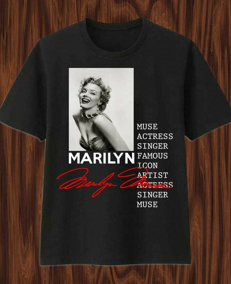 Marilyn Monroe Hollywood Star Cultural icon Actress Model Sex Symbol Norma Jeane Lips Wink Graphic T-Shirt gift