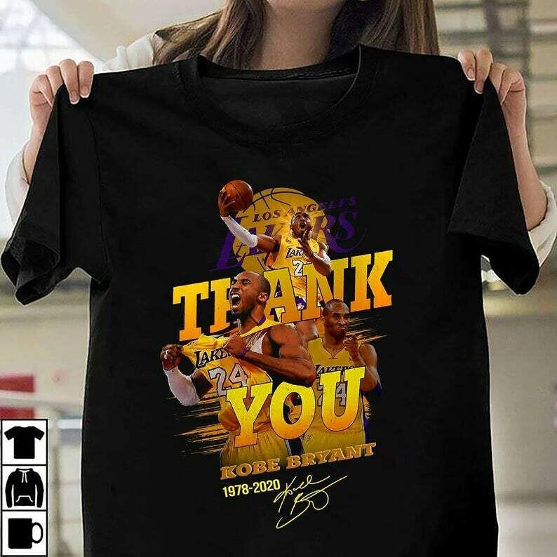 Black Mamba Los angeles Lakers LA GOAT Rip Kobe Bryant Legends Lakers Baseketball 1978 - 2020 NBA Basketball Dad Mon Kid Fan Gift T-Shirt
