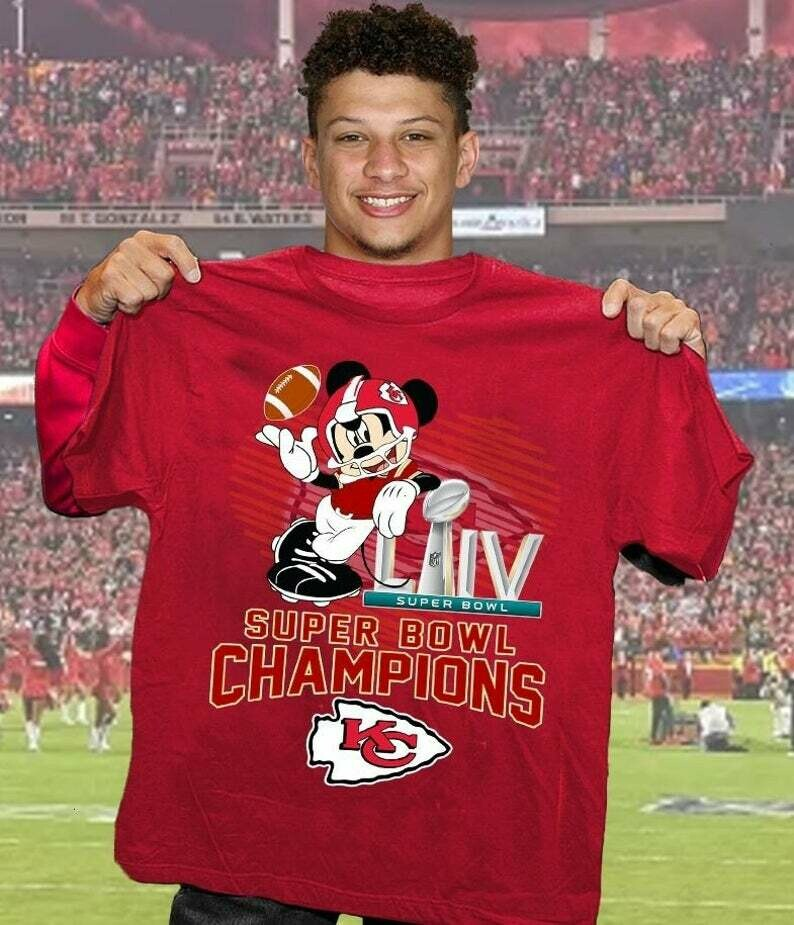 Mickey Disney Kansas City Chiefs Super Bowl 54 2020 LIV Champions February 2 2020 Miami Mahomes NFL Football Team Fan Gift T-Shirt
