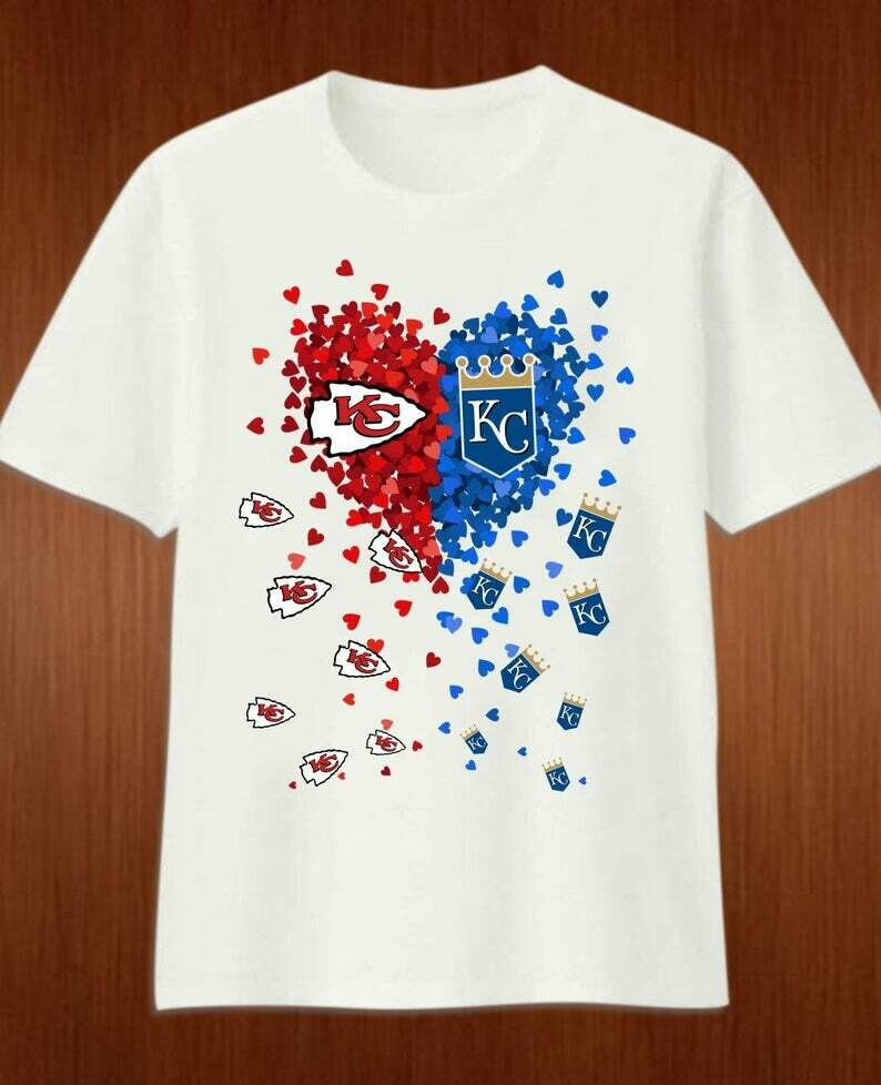 KC k.C. Love Kansas City Chiefs and Royals Tiny heart Super Bowl Champions 2020 gift T-Shirt