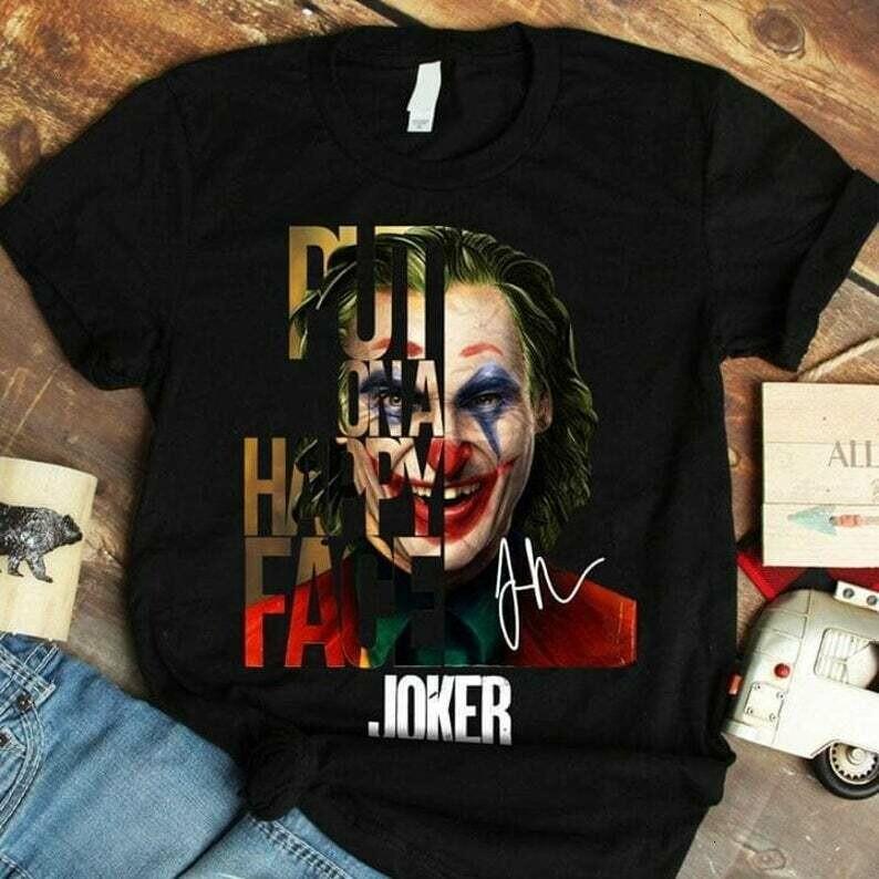 Joaquin Phoenix 2020 Joker Movie Gifts Idea For Fans Here Comes Your Favorite Villain Halloween Movie T-shirt
