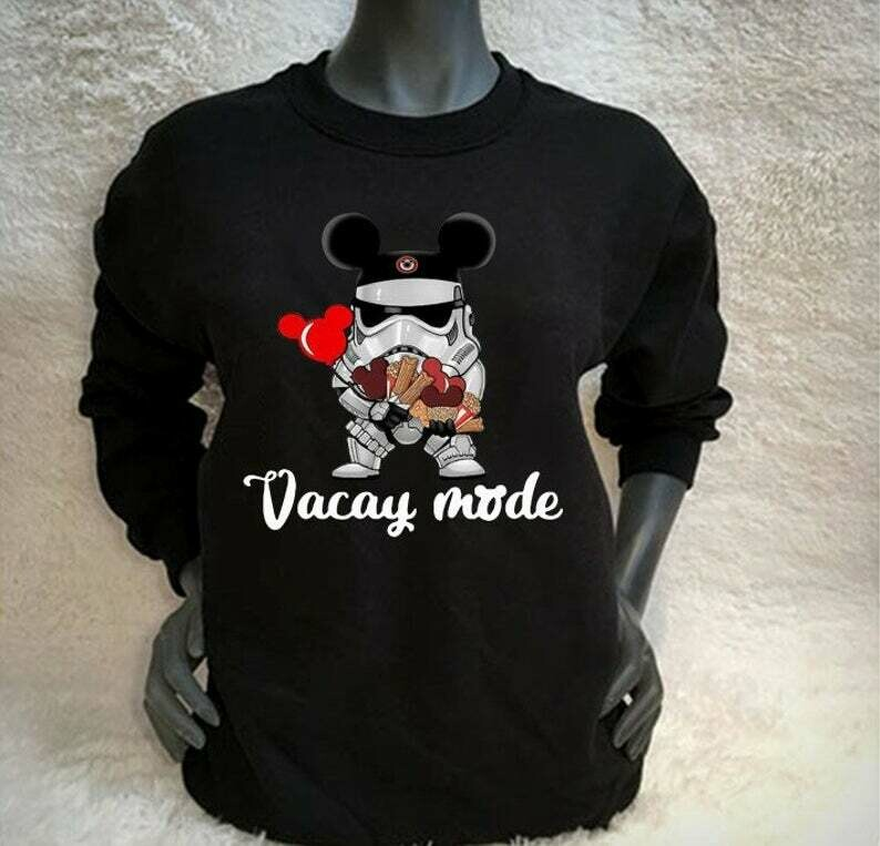 Stormtrooper Soldier Vacay Mode Disney Mickey Mouse Ears Star Wars The Force Awakens Walt Disney Family Vacation Go to Disney World T Shirt