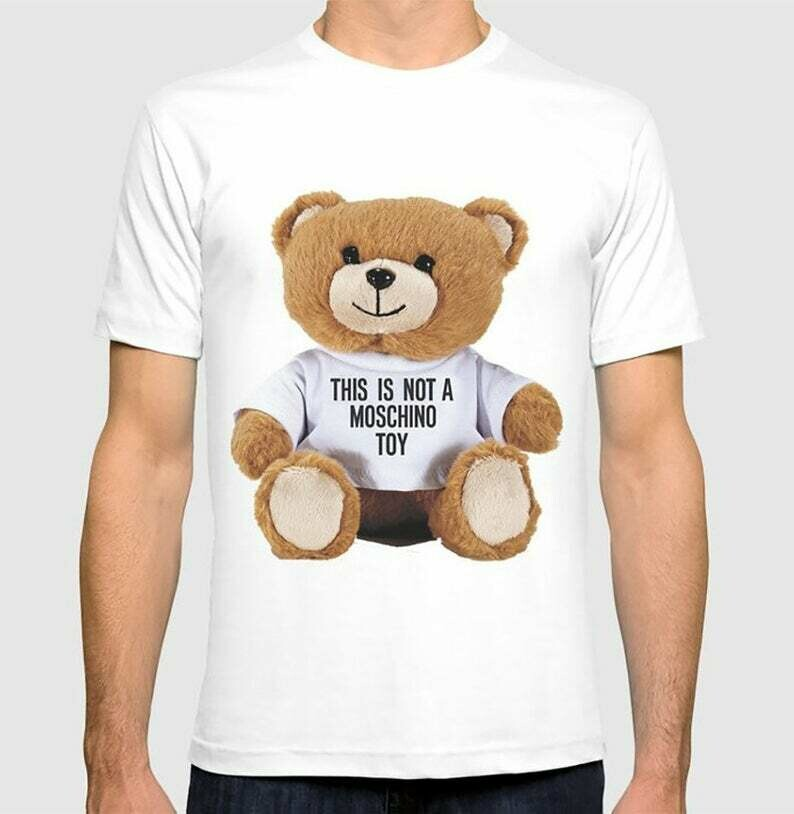 Teddy Bear This Is Not A M Toy Paris New York Milan Fashion Shows Clothing Brand Logo High Quality Luxury Gift for Women Men Kids T Shirt