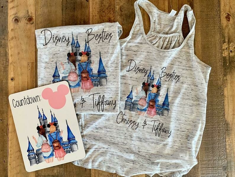 disney best friends shirt, bff disney shirts, besties tshirts, bestie tee and tank, castle bff tshirt, disneyland best friends tank tops