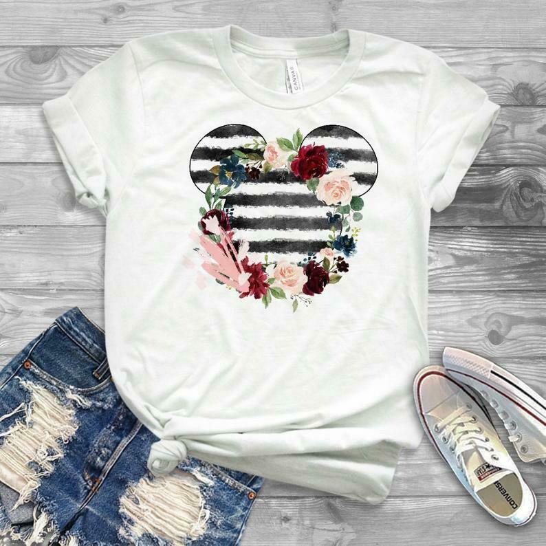 custom disney shirts, disneyworld shirts, family disney shirts, minnie mouse shirts, disney shirt sayings, floral mickey shirt