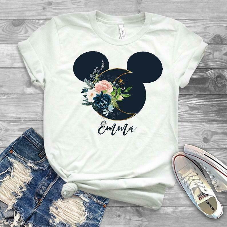 Personalized disney shirts, disney sweater, personalized family disney vacation shirts, disneyland shirts, womens disney florals