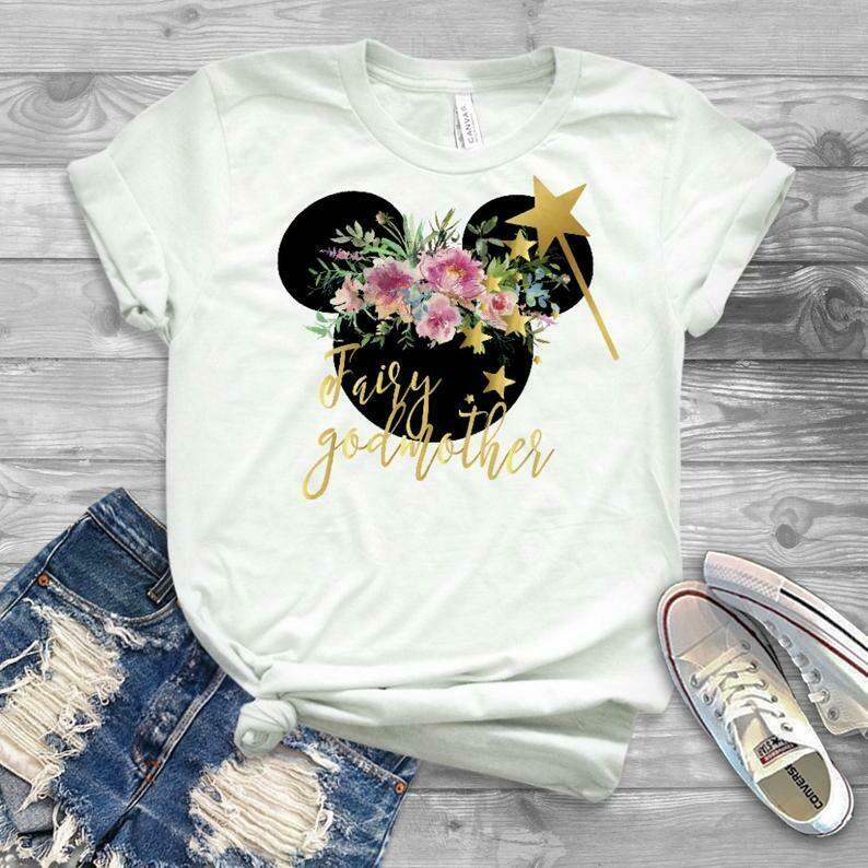fairy godmother shirt, godmother gift, disney fairy godmother shirt, godmom shirt, godmother shirt, godparent gift, new godmother gift