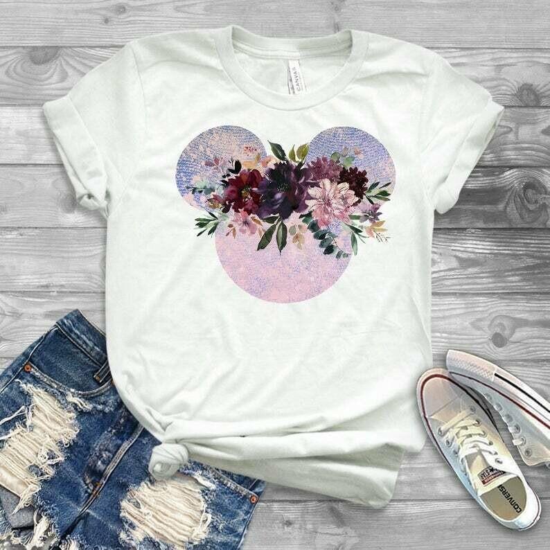 Flower and garden festival disney shirt, minnie mouse shirt, disney shirts for women, disney tops for women, floral disney shirt glitter