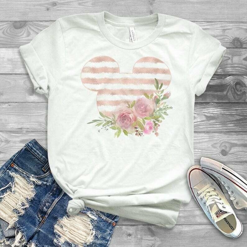 First Birthday Minnie Disney, Toddler Gold Minnie, Floral Disney Shirt, Toddler minnie Shirt, Girl Flower Minnie Shirt, Mommy and me minnie