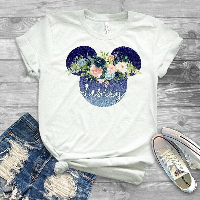 Valentine day disney shirt, flower and garden festival 2020, pretty disney shirt, glittery disney shirt for matching, ladies disney shirt