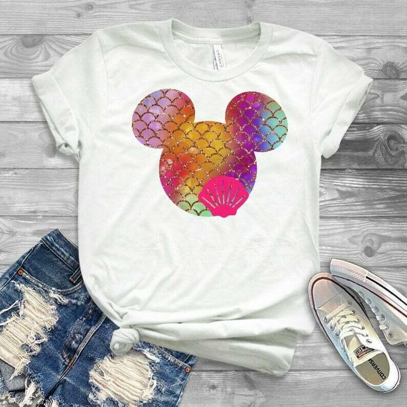 girls disney shirt, youth disney shirt, disney shirt, mermaid shirt, mermaid disney shirt, disneyland shirt, disneyworld shirt