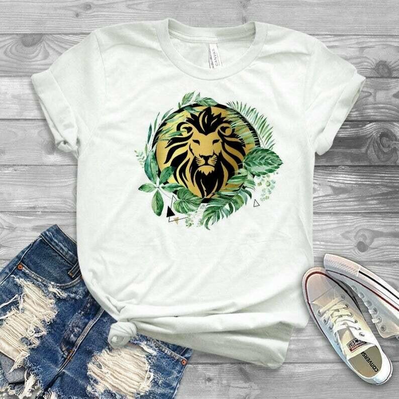 Womens lion king boho design, lion king 2019 design for shirt and tanks