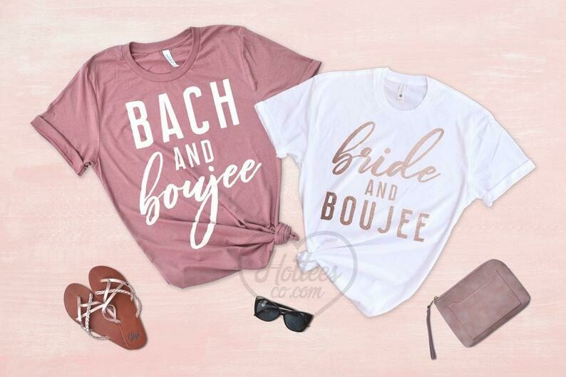 Bride and Boujee Bach and Boujee Bachelorette Party Shirts, Bad and Boujee Bachelorette Shirts, Bride Shirt, Bridesmaid Shirts, Wedding Tees