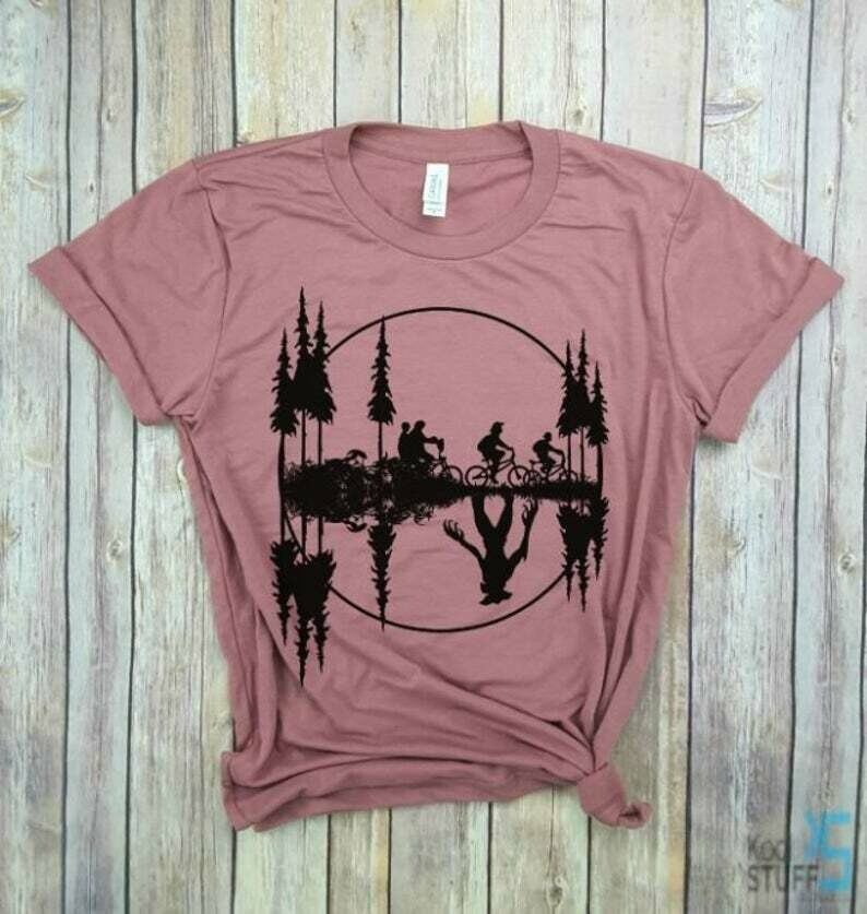 Stranger Things Moon - Welcome to the Upside Down, Stranger Things Shirt, Stuck in The Upside Down, Eleven shirt.