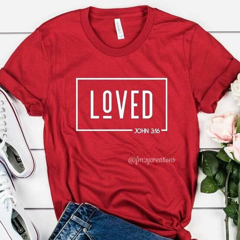 Christian Valentines Shirt | Valentines Day Shirt | Jesus Valentines Shirt | Valentines Shirt Women | Valentines John 3:16 Shirt VD05