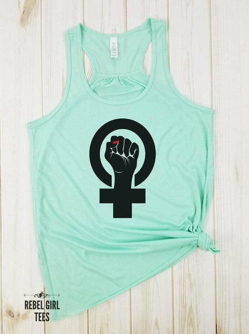 Girl Power Fist - Girl power shirt, GRL Power, Girl Boss Shirt, The future is female, Gift for her, Feminist shirt, Activist, Protest.