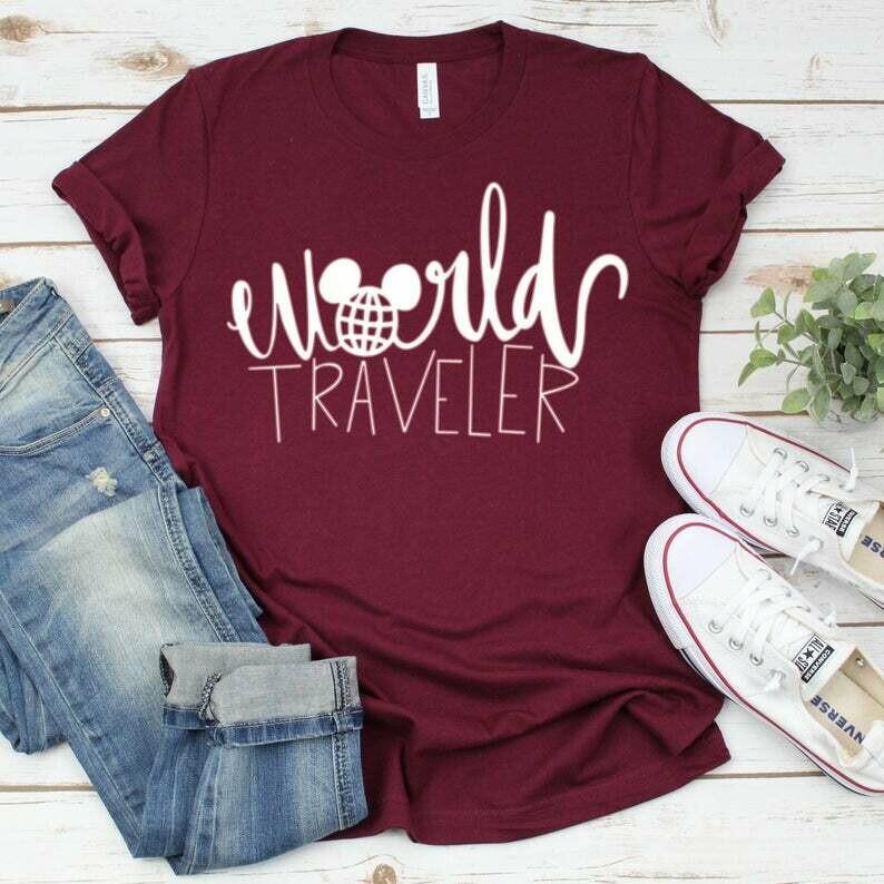 Disney World Traveler, Disney Shirts, Epcot World Traveler, Epcot Shirt, Disney Epcot, World Showcase Shirt, Disney Women's Shirt