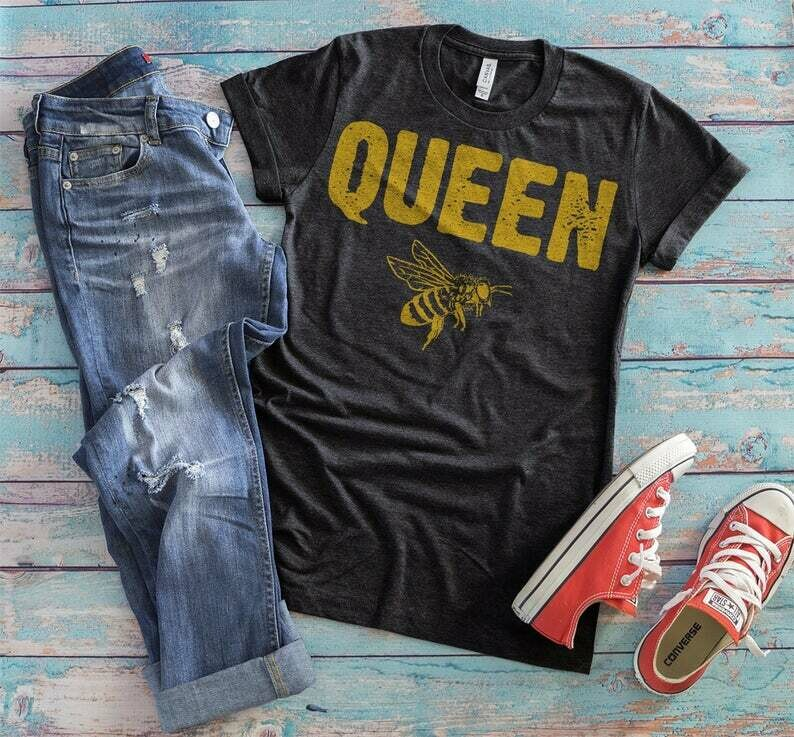 Queen Bee Shirt, Save The Bees, Bee Tshirt, Gift For Girlfriend, Girlfriend Gift, Gift For Her, Queen Bee Tee, Bee Lover, Bee Tee