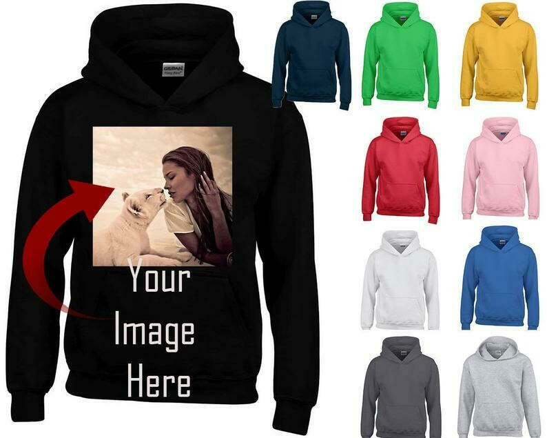 Personal Custom HOODIE Sweatshirt Create Your Text or Logo Make Your Own Sweater Own Design Custom Hoodie Sweater Personalized Sweatshirt