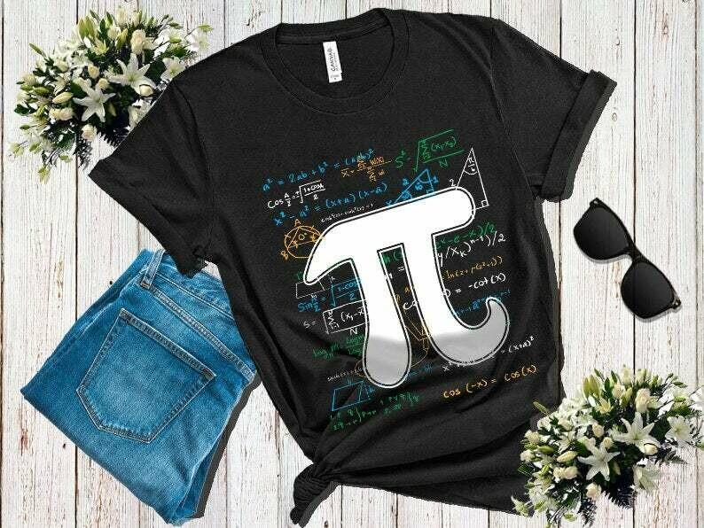 Pi Day Math Equation T-Shirt Math Teacher Student Geek Gifts, Pi Tshirt, Pi Day T Shirt, Pi Day T-Shirt, Math T Shirt, Math Pun Shirt, Pi