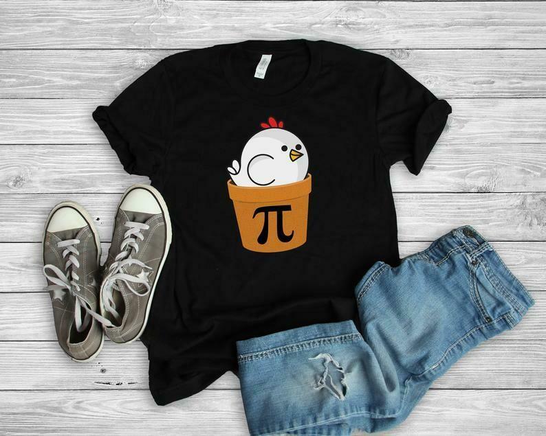 Chicken Pot Pi Shirt, Pi Day T-Shirt, Math Shirt, Funny Math Gift, Math Teacher Shirt, Math Teacher Gift, Mathematics Major Shirt
