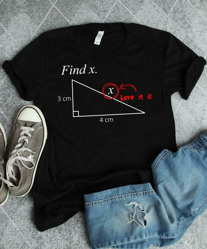 Math Shirt, Math Teacher Shirt, Math Teacher Gift, Funny Math, Find X, Mathematics Shirt, Math Gifts, Math Major, Love Math T-Shirt