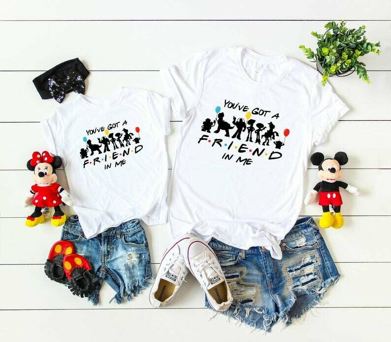 Disney Friends Inspired shirts The One Where they got to Disney Matching Shirts,Disney Characters shirt,Disney family matching Shirt DL1