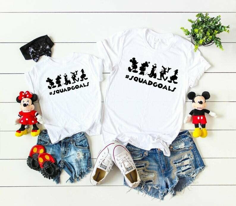 Disney Squad Goals Shirt Boy or Girl - Family Matching Disneyland tshirts #Squadgoals - Kids Disney Character Tee - Mickey Shirt Gift TS4