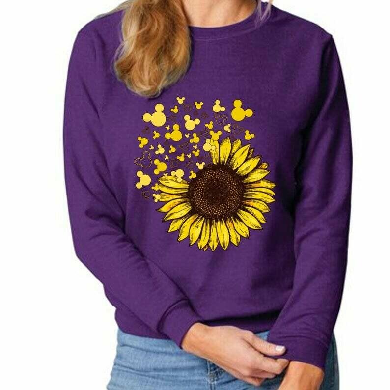 Sunflower Fly Mickey Mouse Cartoon Disney World Disneyland Epcot's International Flower and Garden Festival T-Shirt