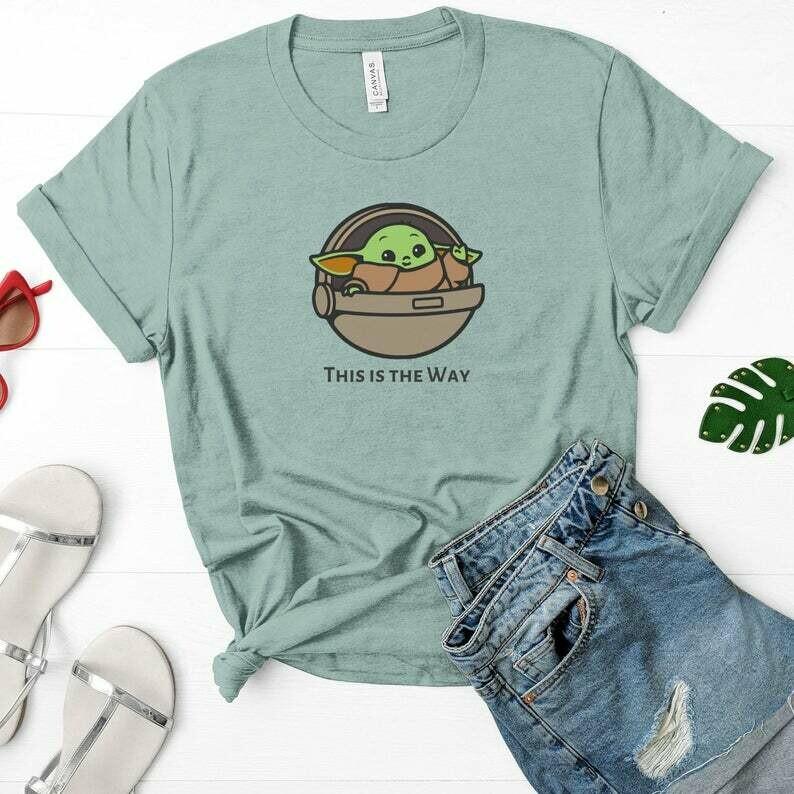 Baby Yoda Shirt, This is the Way, Disney Family Shirt