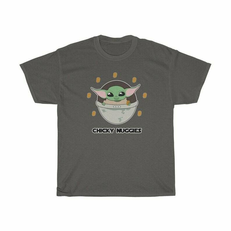 Adult 'Baby Alien' Chicky Chickie Nuggies Shirt - Galaxy Far Far Away - Funny Tee - Chicken Nuggets